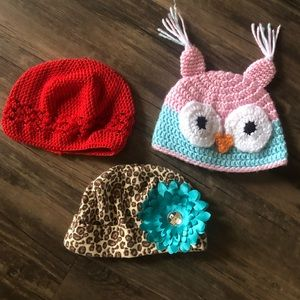 Set of 3 Infant Hats